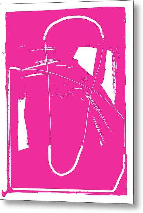 #bringsomethingpink Metal Print featuring the painting Pink by Yifat Gat