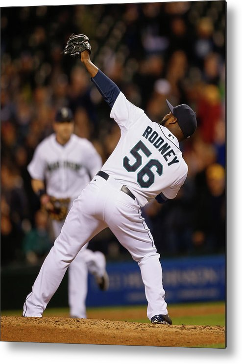 American League Baseball Metal Print featuring the photograph Fernando Rodney by Otto Greule Jr