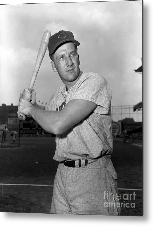 Three Quarter Length Metal Print featuring the photograph Ralph Kiner by Kidwiler Collection