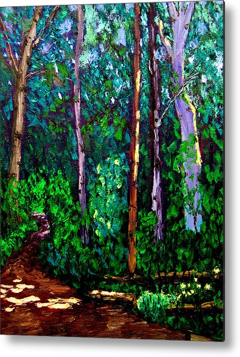 Woods Metal Print featuring the painting Sewp 6 15 by Stan Hamilton