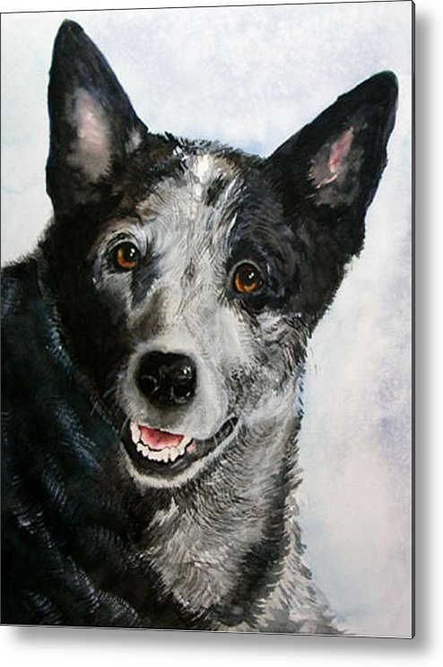 Canine Metal Print featuring the painting Kellie by Gina Hall