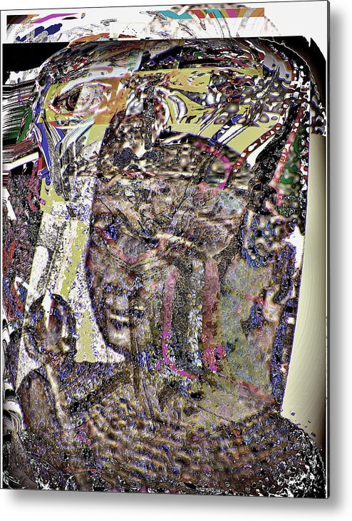 Portrait Metal Print featuring the digital art Rameses II by Noredin Morgan