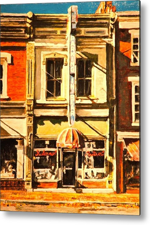 City Scene Metal Print featuring the painting Restaurant II by Thomas Akers
