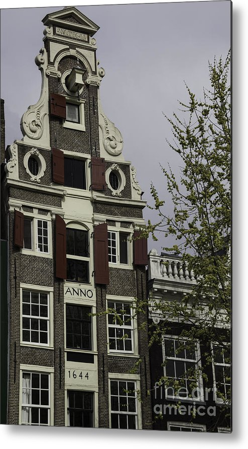 2014 Metal Print featuring the photograph Anno 1644 Amsterdam by Teresa Mucha