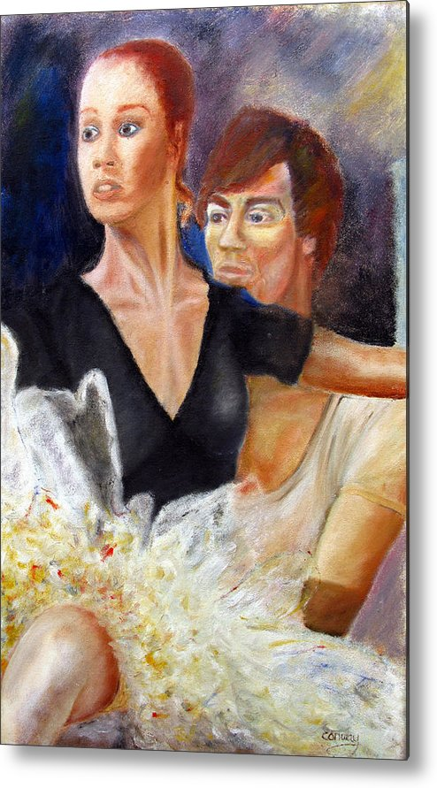 Ballet Metal Print featuring the painting Ballet Dancers Rehearse For La Bayadere by Tom Conway