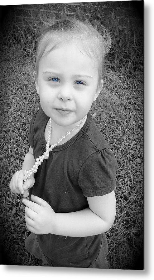 Metal Print featuring the photograph Blue Eyes by Regina McLeroy