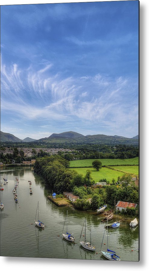Castle Metal Print featuring the photograph Caernarfon Harbour by Ian Mitchell