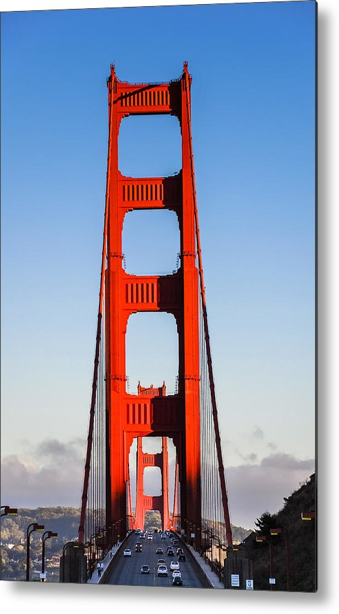 Bridge Metal Print featuring the photograph Golden Towers by Radek Hofman