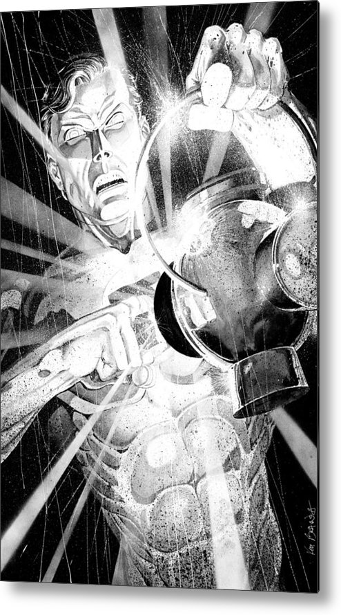 Green Lantern Metal Print featuring the painting Green Lantern by Ken Branch