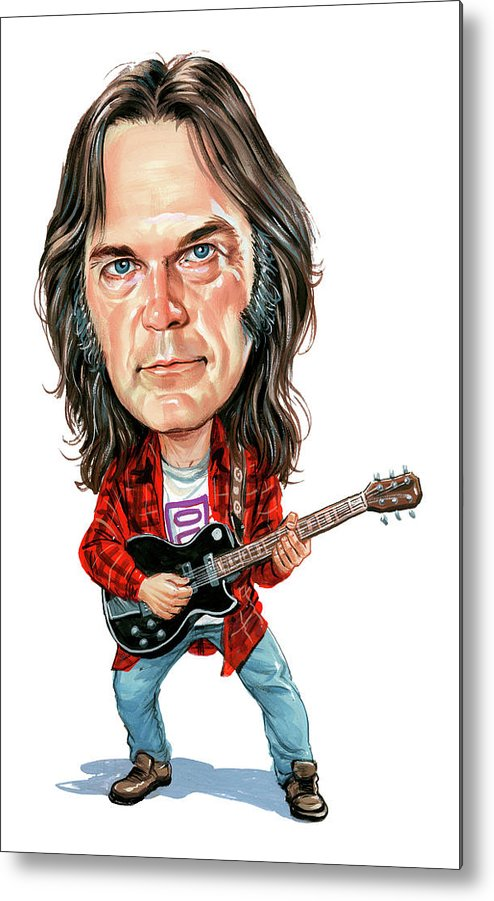 Neil Young Metal Print featuring the painting Neil Young by Art