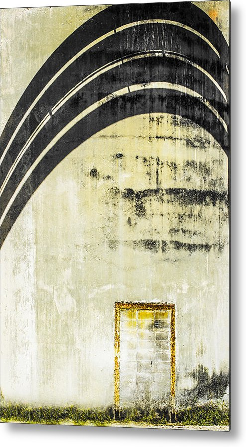 Cement Wall Metal Print featuring the photograph Piped Abstract 4 by Carolyn Marshall