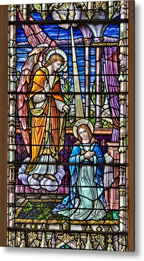 Catholic Metal Print featuring the photograph Stained Glass by Susan Candelario