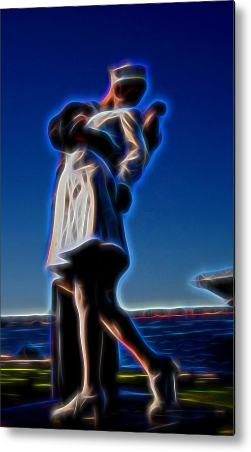 Kiss Metal Print featuring the photograph The Kiss by Michael Biggs