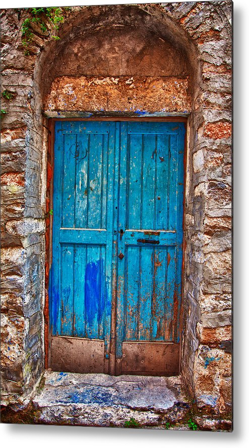 Old Metal Print featuring the photograph Traditional Door 2 by Emmanouil Klimis