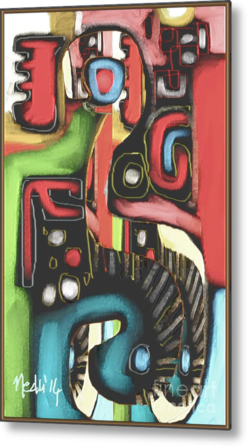Fine Art Metal Print featuring the painting Untitled 408 by Nedunseralathan R