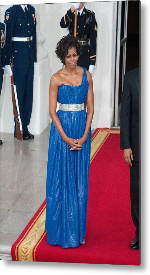 First Lady Michelle Obama Metal Print featuring the photograph First Lady Michelle Obama Wearing by Everett