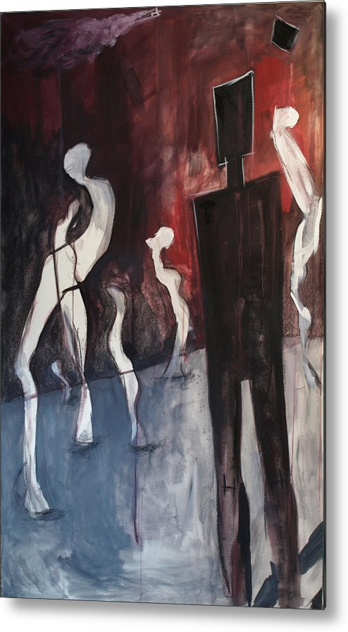 Metal Print featuring the painting Ghosts by Pavel Lefterov