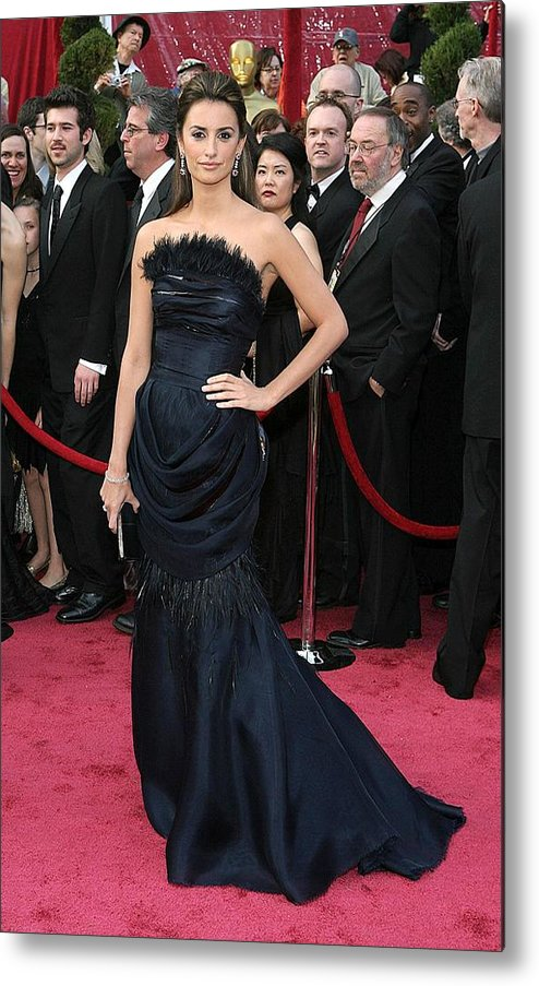 Academy Awards Metal Print featuring the photograph Penelope Cruz Wearing A Chanel Haute by Everett