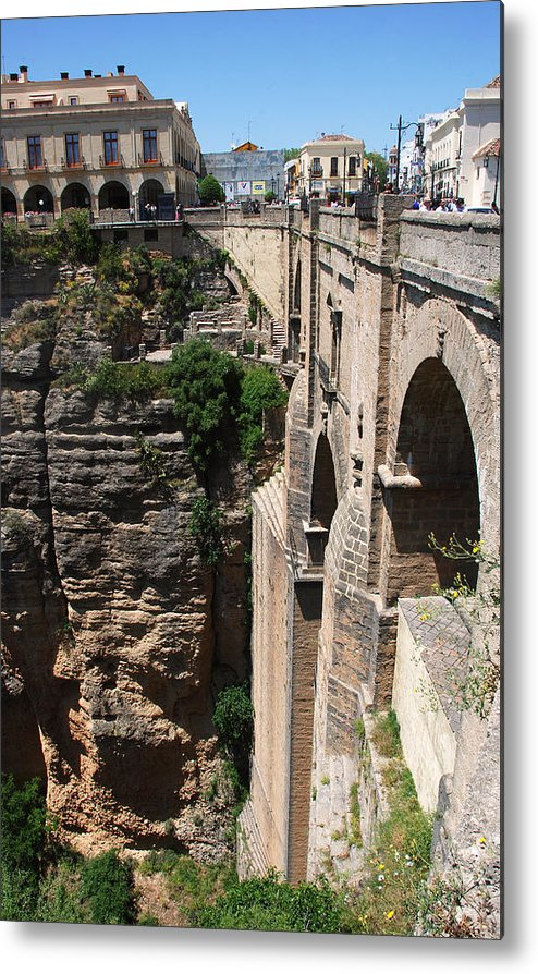 Roman Metal Print featuring the photograph Roman Bridge Of Ronda by Perry Van Munster