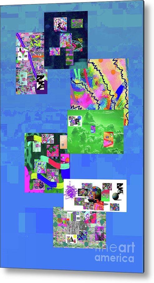 Walter Paul Bebirian Metal Print featuring the digital art 8-14-2016a by Walter Paul Bebirian