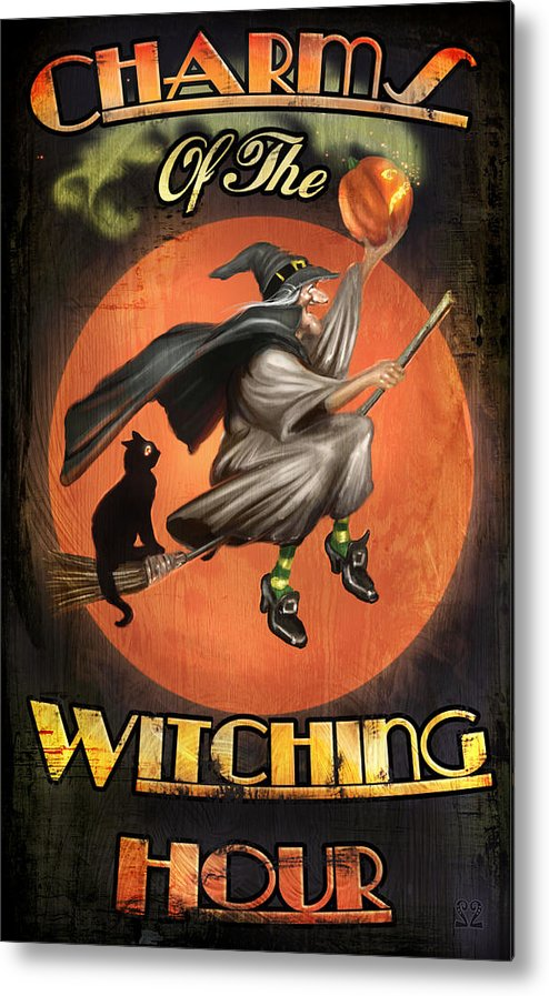 Witch Metal Print featuring the digital art Charms Of The Witching Hour by Joel Payne