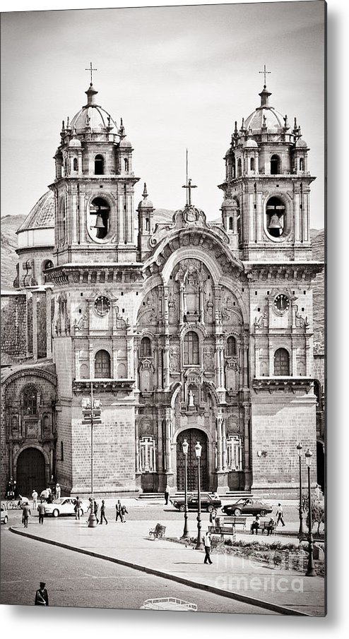 35mm Metal Print featuring the photograph Cusco Cathedral by Darcy Michaelchuk