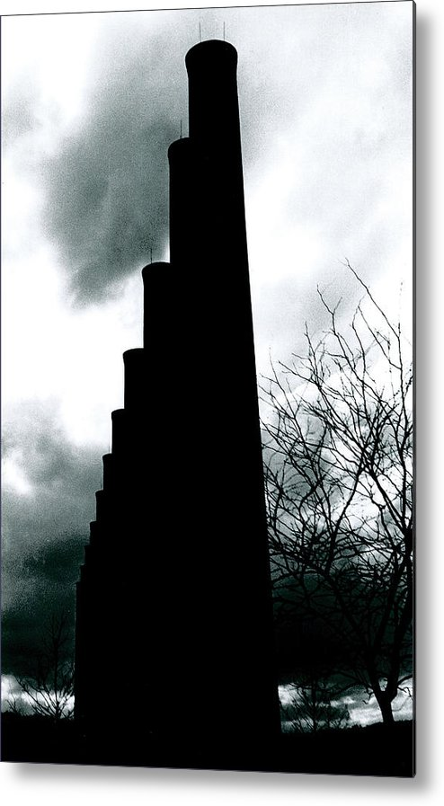 Smoke Stacks Metal Print featuring the photograph Ghost Stacks by Chaz McDowell