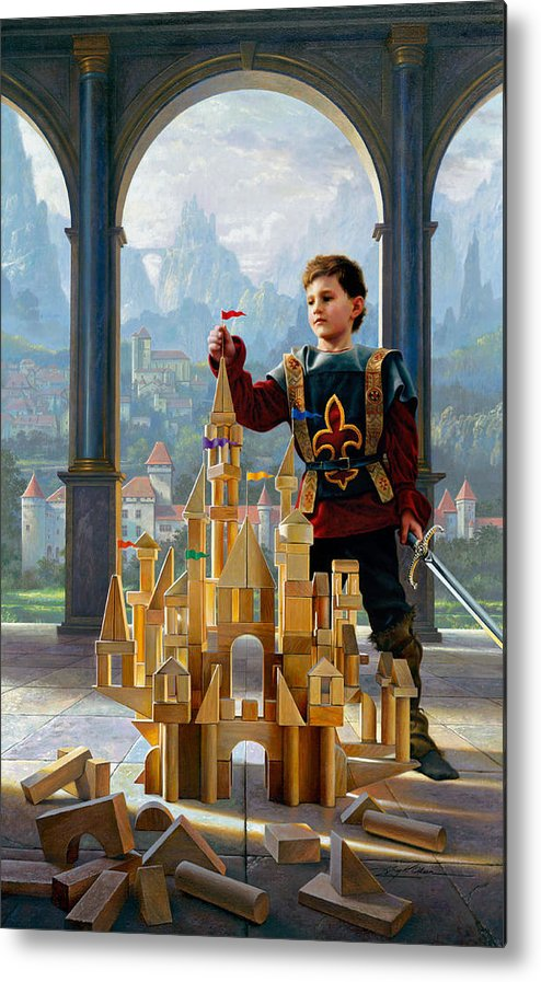 King Metal Print featuring the painting Heir To The Kingdom by Greg Olsen