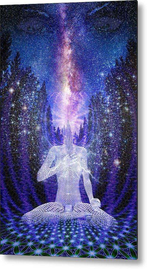Awakening Metal Print featuring the painting Milkyway Awakening by Robby Donaghey