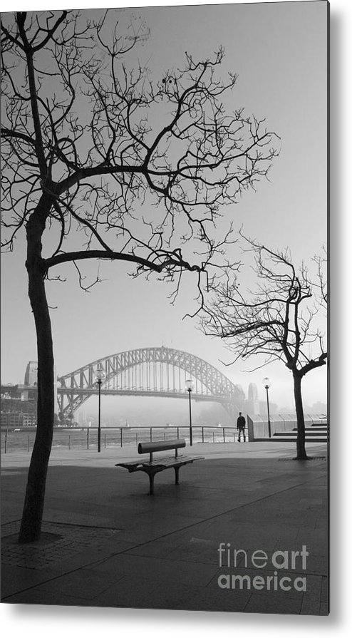 Sydney Harbour Bridge Mist Australia Metal Print featuring the photograph Misty Sydney Morning by Sheila Smart Fine Art Photography