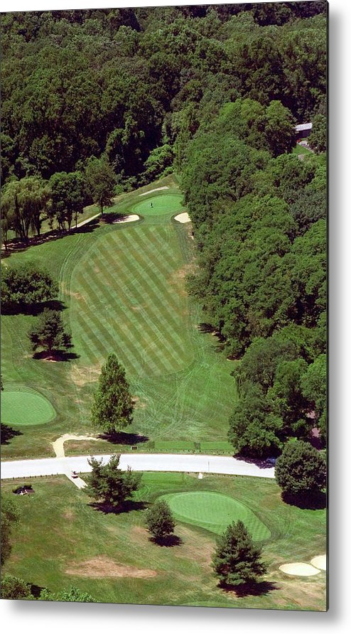 Philadelphia Cricket Club Metal Print featuring the photograph Philadelphia Cricket Club St Martins Golf Course 4th Hole 415 W Willow Grove Ave Phila Pa 19118 by Duncan Pearson