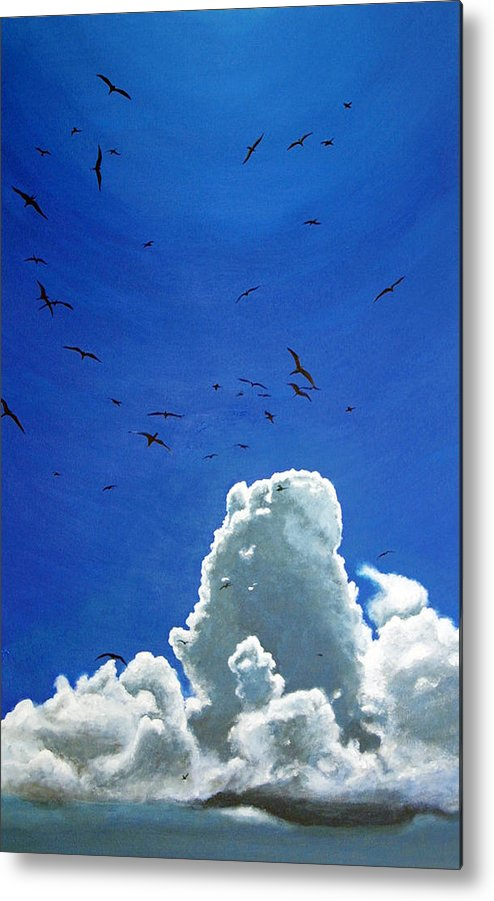 Birds Metal Print featuring the painting Sanctuary by Fiona Jack