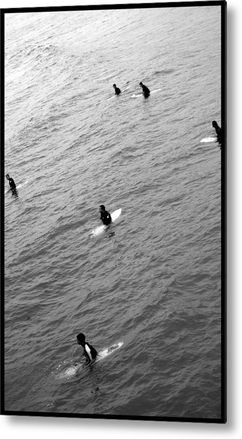 San Clemente Pier Metal Print featuring the photograph Sitting Waiting Wishing by Brad Scott
