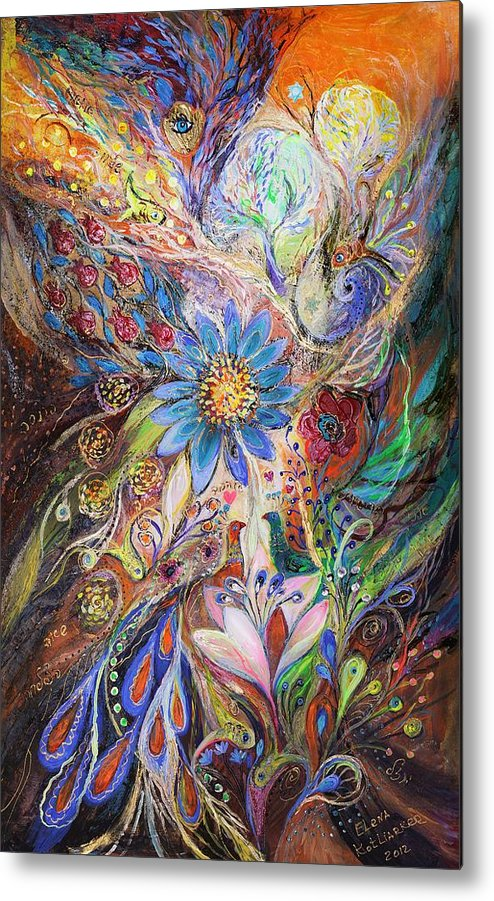 Judaica Metal Print featuring the painting The Dance Of Light by Elena Kotliarker