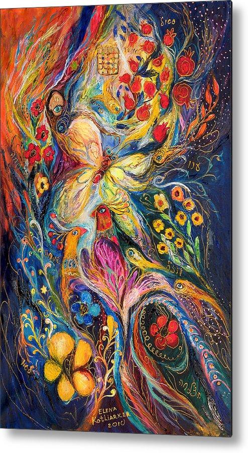 Original Metal Print featuring the painting The Love Story by Elena Kotliarker