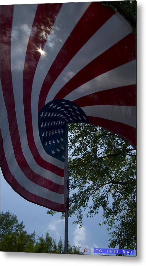 Flag Metal Print featuring the photograph To This Day by Jonathan Ellis Keys