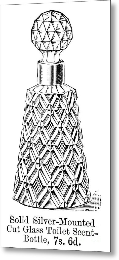 1895 Metal Print featuring the photograph Glass Bottle, 1895 by Granger