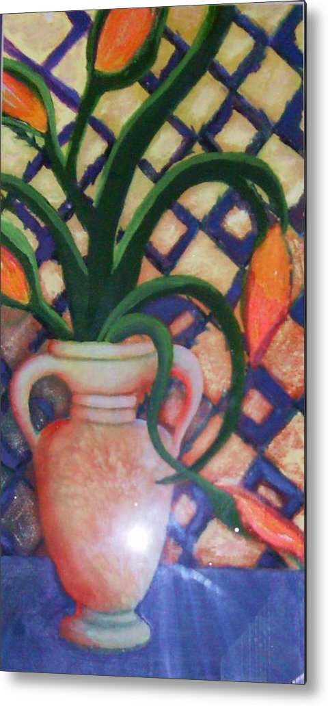 Tuscany Metal Print featuring the painting Tuscany Morning by Anne-Elizabeth Whiteway