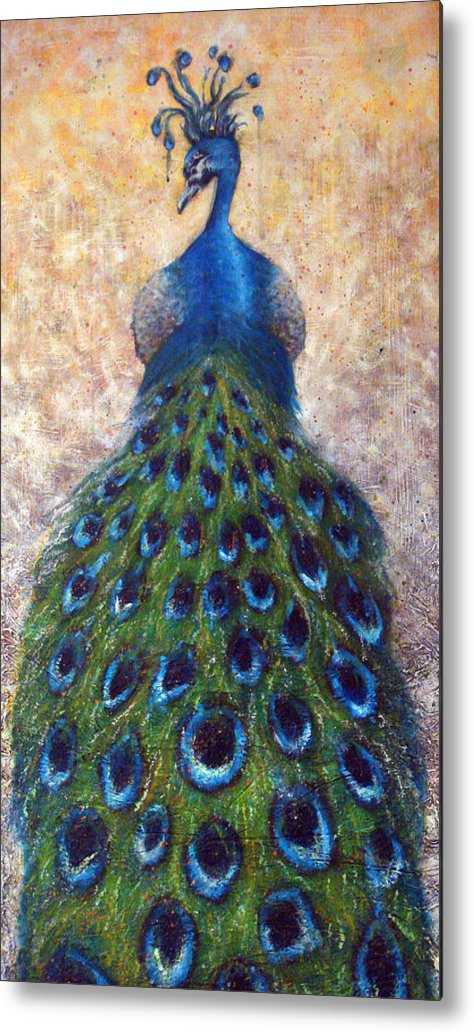 Peacocks Metal Print featuring the painting At The Gates by Mark M Mellon