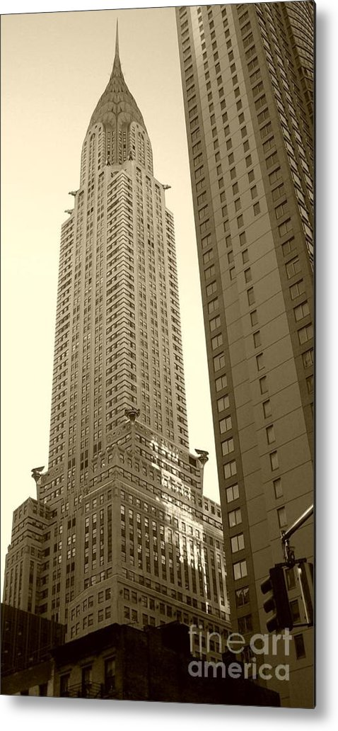 New York Metal Print featuring the photograph Chrysler Building by Debbi Granruth