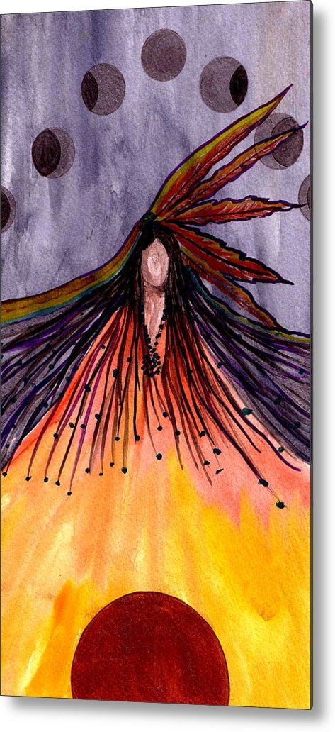 Original Ar Metal Print featuring the painting Sister Moon by K Hoover