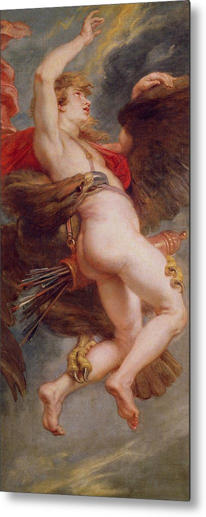 The Rape Of Ganymede Metal Print featuring the painting The Rape Of Ganymede by Rubens