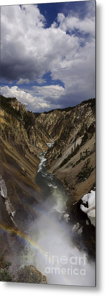 Grand Canyon Of The Yellowstone Metal Print featuring the photograph Grand Canyon Of The Yellowstone - 25x63 by J L Woody Wooden