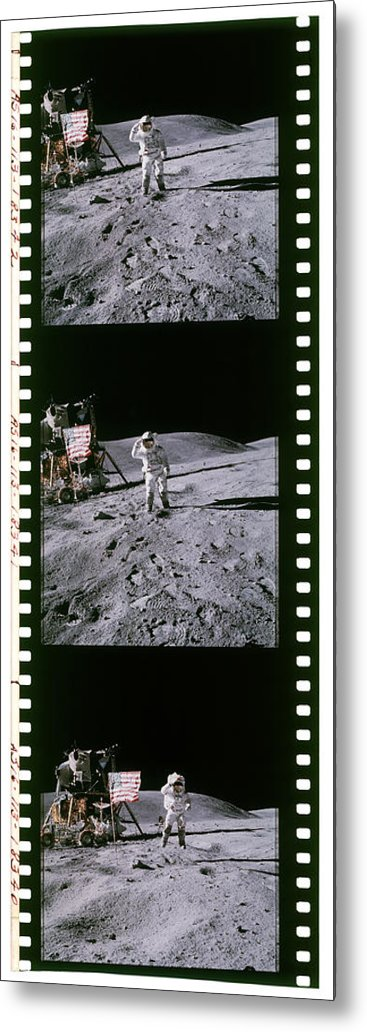 Orion Metal Print featuring the photograph Apollo 16 Astronauts by Detlev Van Ravenswaay