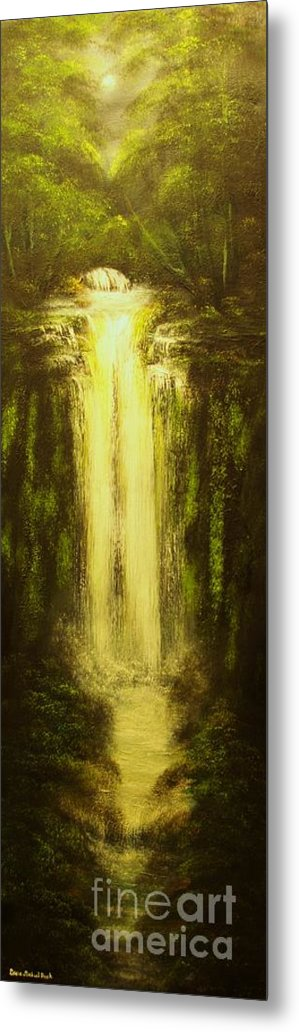 Waterfall Metal Print featuring the painting High Falls-original Sold-buy Giclee Print Nr 37 Of Limited Edition Of 40 Prints  by Eddie Michael Beck