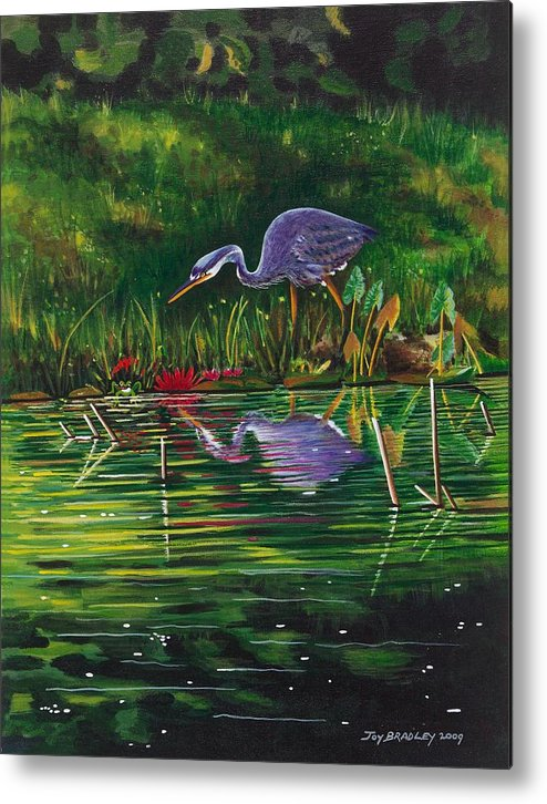 Designs Metal Print featuring the painting Food Chain  by Joy Bradley