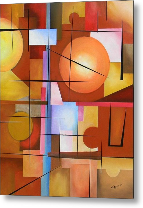 Abstract Metal Print featuring the painting Abstract #3 by David Guerin