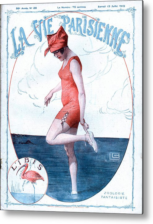 1910�s Metal Print featuring the drawing La Vie Parisienne 1918 1910s France by The Advertising Archives