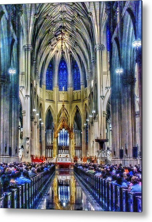 New Metal Print featuring the photograph Saint Patrick Cathedral 001 by Jeff Stallard