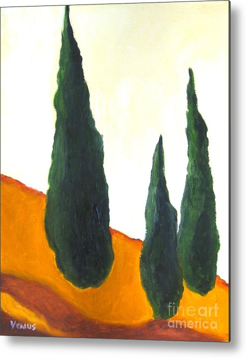 Tuscany Metal Print featuring the painting Tuscany by Venus